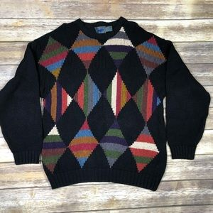 Sweaters - Vintage oversized Multicolor Chunky sweater